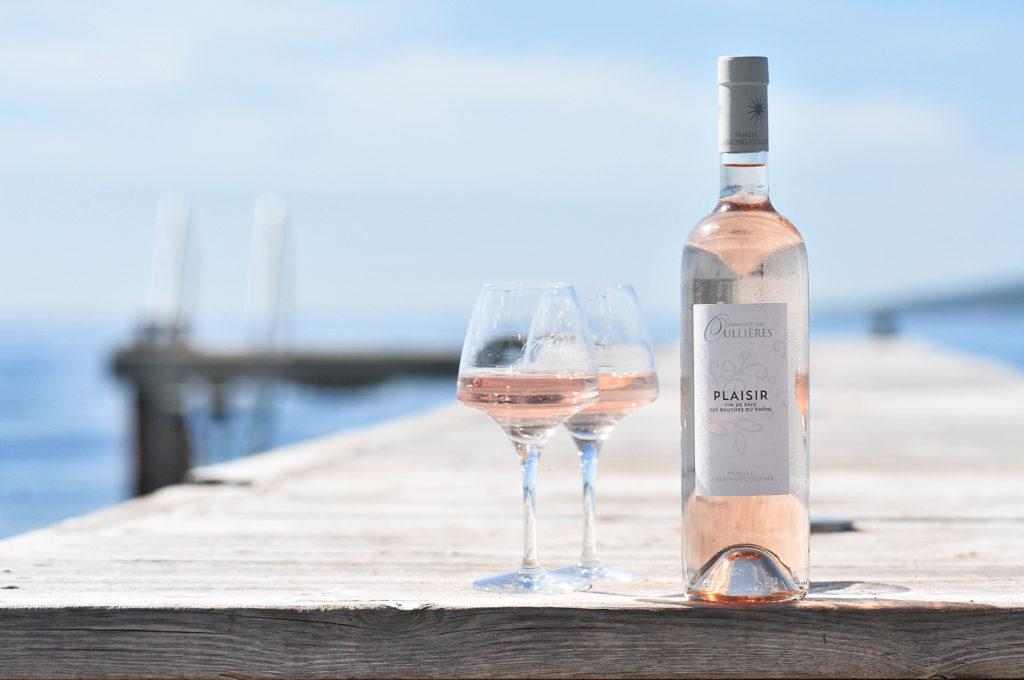 Plaisir rosé du Domaine des Oullières rosé de Provence coteaux d'aix en provence