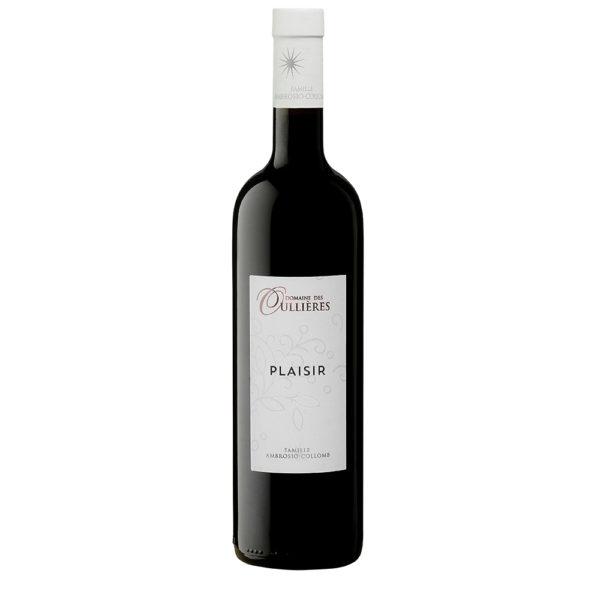 Plaisir Rouge du Domaine des Oullières, IGP Vin de Pays des Bouches du Rhône vin rouge vin de provence vin de lambesc
